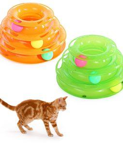 מגדל-של-מסלולים-אימון-צעצוע-אינטראקטיבי-חתול-צעצוע-חתול-יצירתי-מודיעין-צלחת-Trilaminar-Crazy-לשחק-כדור